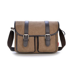Mens Vintage Canvas Messenger Bag Military Travel Shoulder Bag