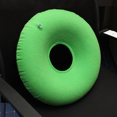 Inflatable Donut Round Cushion Ring Pressure With Pump
