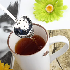 Stainless Steel Heart-Shaped Tea Infuser Strainer Filter Spoon