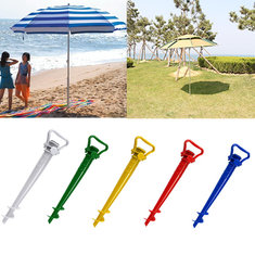 Beach Garden Patio Sun Umbrella Holder Parasol Ground Earth Anchor