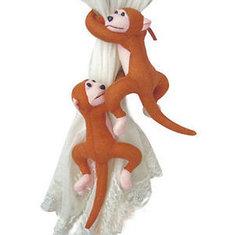 1Pair Monkeys Curtain Buckle Tie Backs Holder Window Drapery Decoration
