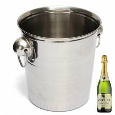 Stainless Steel Ice Bucket Champagne Barrel Beer Wine Cooler Multifunction Bar Tools