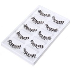 5 Pairs Thick Long Crisscross False Eyelashes Makeup Fake Eyelashes