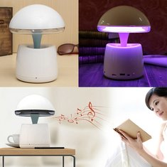 Wireless Bluetooth Speaker LED Night Light With Alarm Clock For iphone