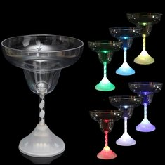 LED Colorful Wine Glass Cup Light Flashing Cocktail Goblet For Bar