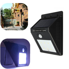 Solar Power 6 LED PIR Motion Sensor Light Waterproof Outdoor Wall Lamp