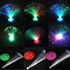 Color Changing LED Flashing Fiber Optic Nightlight For Party
