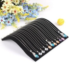 Black Velvet Necklace Curved Showcase Holder Jewelry Display Stand