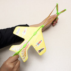 Magic LED Slingshot Plane Shinning Educational Toys