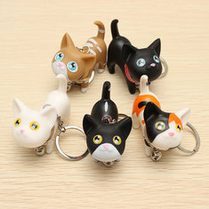 Cute Cat Kitten with Bell Keychains Keychain