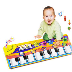 Keyboard Music Carpet Mat Blanket Kids Learn Singing Educational Gift