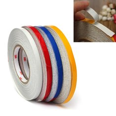 1Roll 1cm x45.7m Reflective Body Rim Stripe Sticker DIY Tape Self-Adhesive