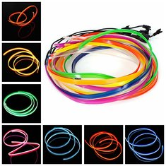 1M EL Cold Wire Neon Light Dress Party Dance Festival Decoration With Ballast Controller For Motor Auto