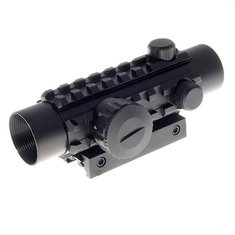 1*30 Reflex Laser Sight Rifle Scope(Red+Green Laser Configurable)