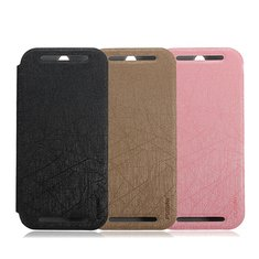 PUDINI Ultra Thin Flip Leather Case Cover Stand For HTC One 2 M8