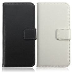 Ultra Thin Real Leather Flip Wallet Stand Case For HTC One M8