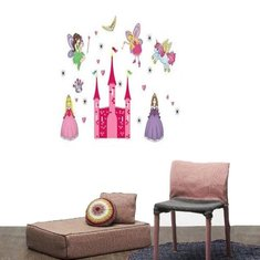 Princess Fairy Pink Castle & Pony Removable Wall Sticker Girl Kid Gift