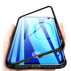Bakeey Magnetic Adsorption Aluminum Tempered Glass Protective Case for Samsung Galaxy S10e/S10/S10
