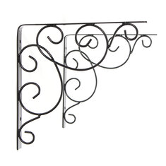 Hanging Bracket Holding Tools Ornate Scroll Pattern Cloth Hanger Wall Bracket With Scews