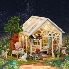 CuteRoom A-063-C Sunshine Greenhouse Flower Shop DIY Dollhouse With Music Cover Light Miniature Gift - CuteRoom-A-063-C-Sunshine-Greenhouse-Flower-Shop-DIY-Dollhouse-With-Music-Cover-Light-Miniature-Gift , CuteRoom A-063-C Sunshine Greenhouse Flower Shop DIY Dollhouse With Music Cover Light Miniature Gift