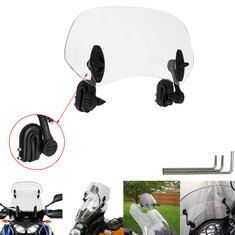 Universal Adjustable Clip On Transparent Windshield Extension Spoiler Wind Small Windscreen Deflector For Motorcycle Scooter