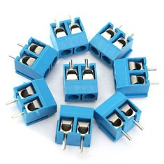 60pcs 2 Pin Plug-In Screw Terminal Block Connector 5.08mm Pitch