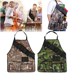 Outdoor BBQ Barbecue Cooking Waterproof Aprons With Beer Can Opener Belt Camping Picnic