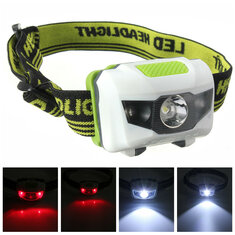 XANES 1200 Lumen R3+2LED 4 Models Super Bright Mini Headlamp Headlight Flashlight Torch Lamp