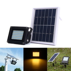 Solar Powered 54 LED Sensor Warm White Flood Light Outdoor Waterproof IP65 Garden Security Lamp