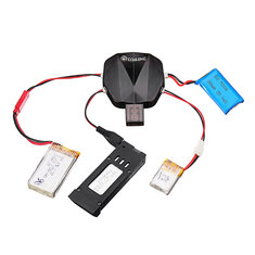Eachine 4-in-1 1S 3.7V Lipo Battery Charger with 12 Charging Cable JST MX2.0 XH2.54 USB for E58 E010
