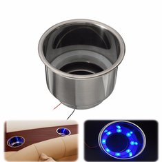 LED Stainless Steel Cup Drink Holder For Marine Boat Car Camper