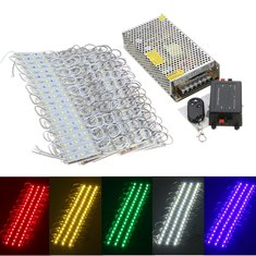 200PCS 5 Colors SMD5050 LED Module Store Strip Light Front Window Lamp + Power Supply + Remote DC12V