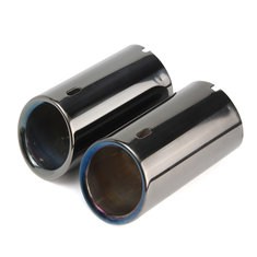2 X Tail Muffer Exhaust Tip Pipe Titanium Black For BMW E90 E92 325 328i 3 Series