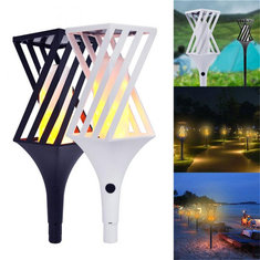 Solar Powered LED Flickering Landscape Lamp Waterproof  Torch Light for Outdoor Garden Lawn Pathway