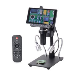 HY-1070 5 Inch Screen 16MP 4K 1080P 60FPS USB & WIFI Digital Industry Microscope Camera 150X C-mount Lens 1/2.3 Image Sensor