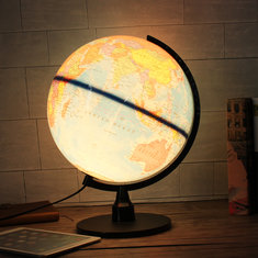 Universal LED World Globe Rotating Swivel Map Of Earth Atlas Geography