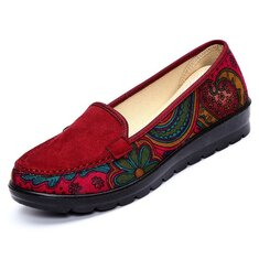 3c5f1cf0c69 Big Size Women Casual Flat Loafers Slip-on Breathable Shoes Soft Sole Shoes