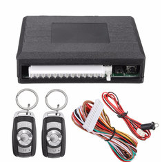 Universal Waterproof Car Kit Door Lock Vehicle Keyless Entry System + 2 Remote Key