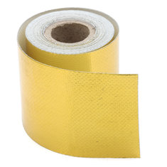 50mm Gold Heat Defense Reflect Reflective Tape Protection Engine Cover 4.5M