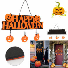 Halloween Pumpkins Wall Door Doorplate Plaque Hanging Sign Haunted House Decor
