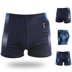 3fd67f2dd0 ... Mens Plus Size Zipper Pocket Shorts Surf Swimming Letter Printing  Boxers Spa Surf Casual Trunks