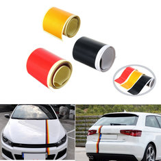 3.6M Car PVC Sticker Germany Flag Stripes Decal Self-adhesive Removable