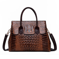 Women Retro Crocodile Pattern Handbag 9cf2f7d2c2a1c