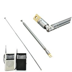 Replacement 60cm Six Sections Silver Telescopic Antenna Aerial for Radio TV KL