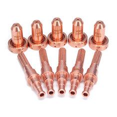 5Pcs 9-8215 Electrodes with 5Pcs 9-8212 Nozzle Plasma Cutter Torch Fits SL60 SL100