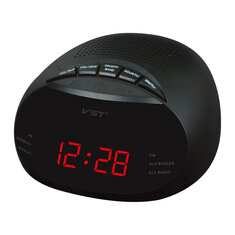 VST ST-8 EU Led Digital Radio Alarm Clock With Blue Red Green Backlight Two Groups Alarm Clock AM FM Clock Radio Table Clock Radio