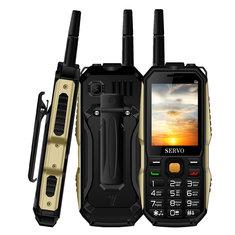 SERVOP202.4''4000mAhАнтенна Аналоговое изменение голоса телевизора OTG Quad Стандарты 3 Телефон с функцией SIM-карты