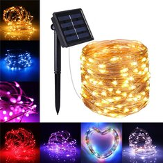 Solar Powered 20m 200leds Starry Copper Wire String Fairy Light Moon Vine Lamp Xmas Christmas Wedding Party Garden Tree Lamp Diy Lights & Lighting