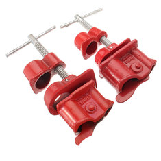 1/2Inch 3/4Inch Wood Gluing Pipe Clamp Set Heavy Duty PRO Woodworking Cast Iron