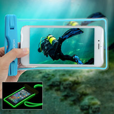 ROCK RST1001 Touch Screen Luminous IPX8 Waterproof Phone Bag for Phone Under 6-inch